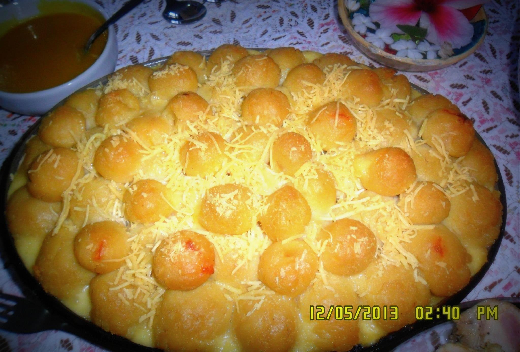 Bolinhas de queijo com batata da Tia Marly