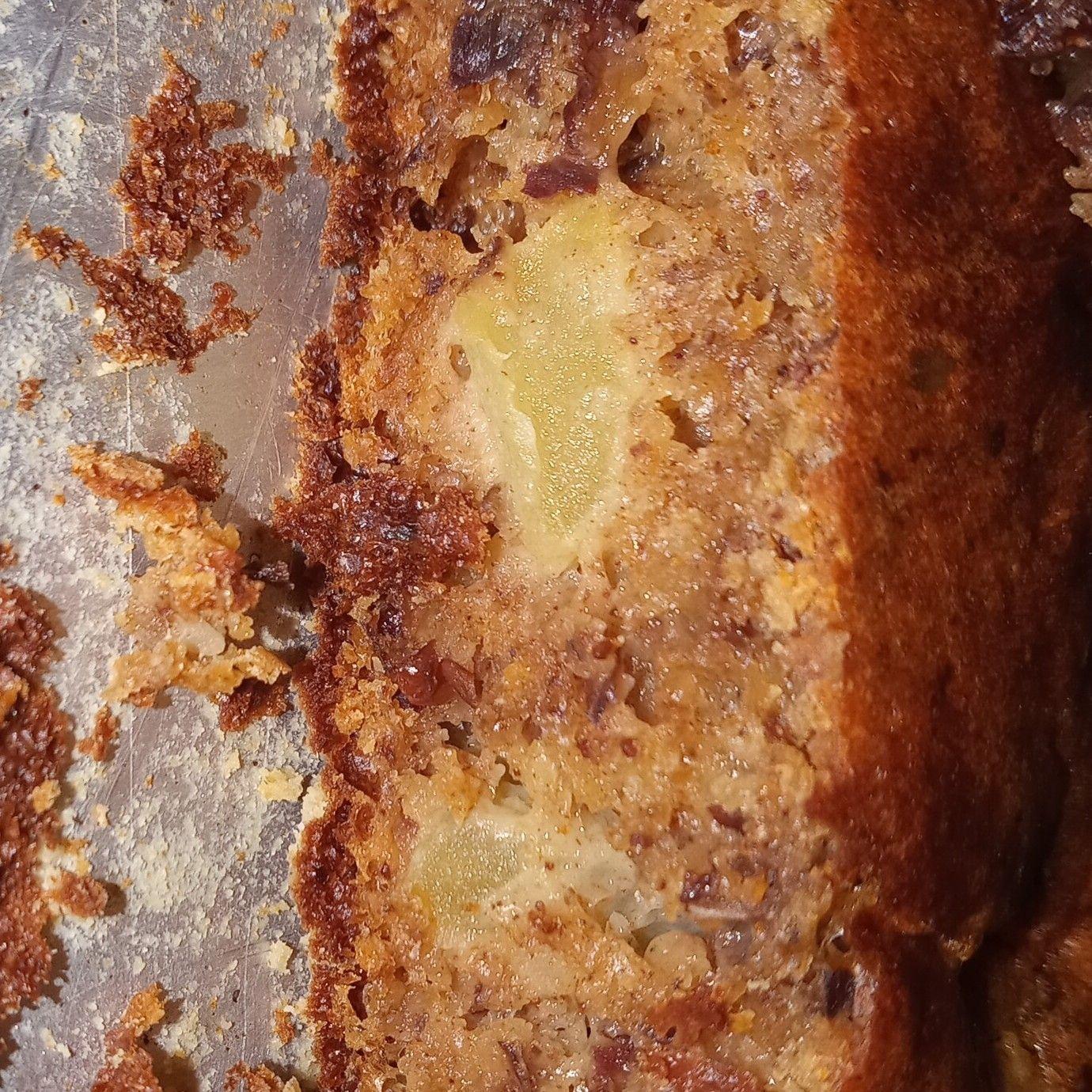 Bolo de maçã sem açúcar e sem farinha de trigo