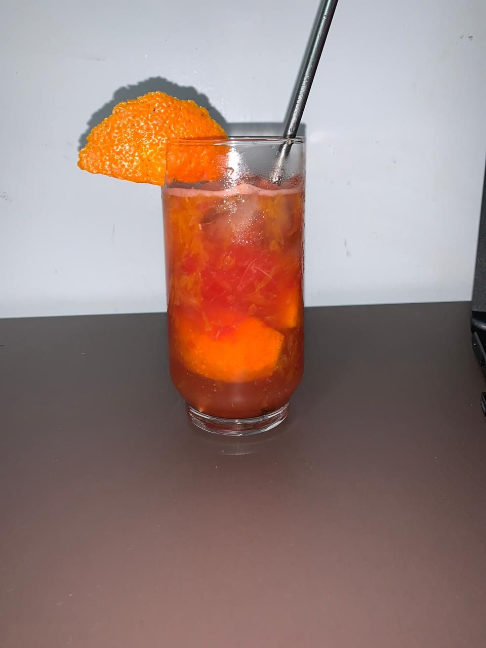 Caipiroska de tangerina com melancia