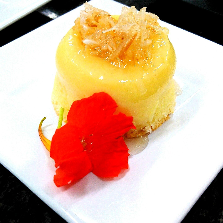 Cocada cremosa com queijo