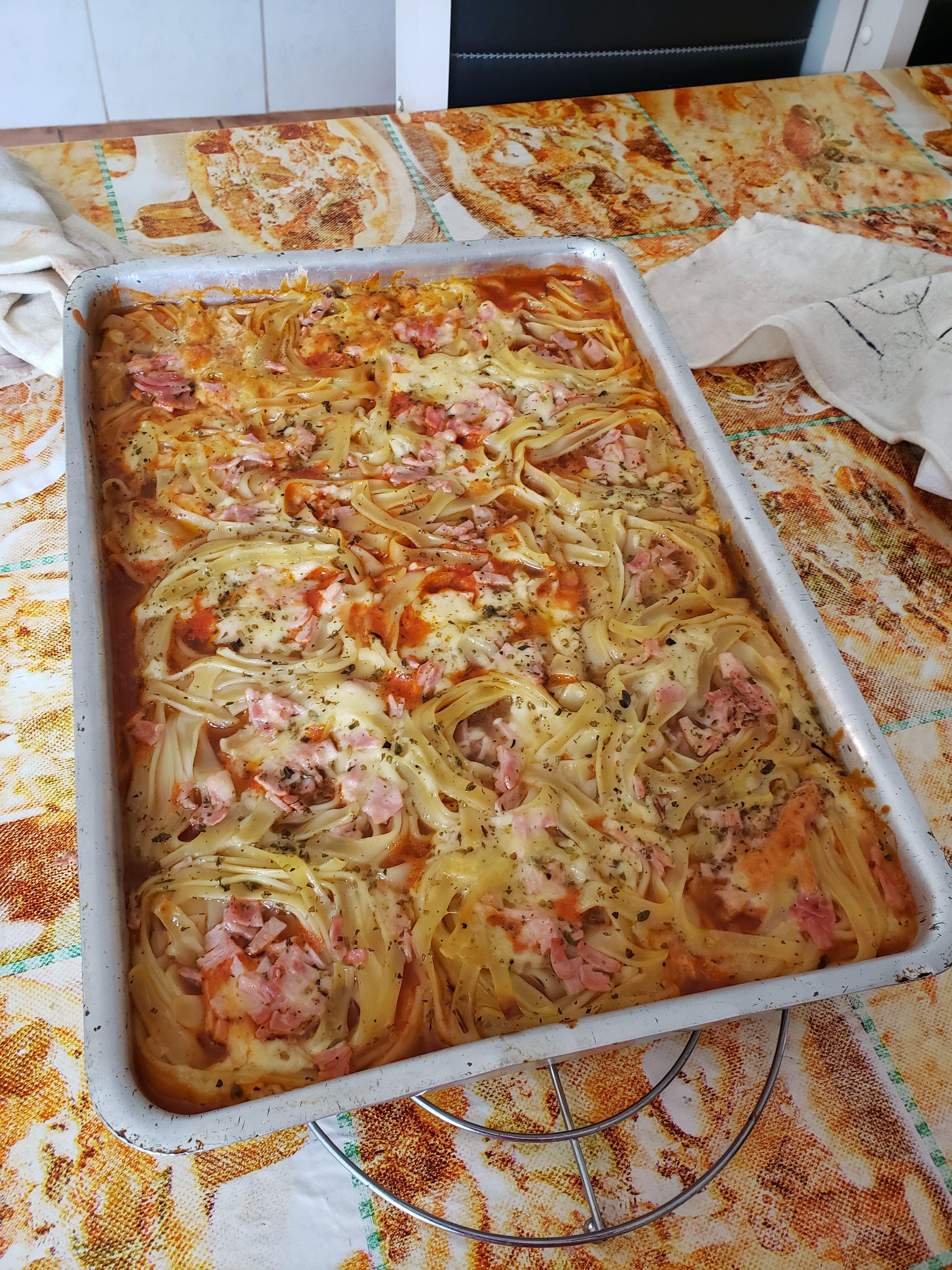 Delicioso macarrão de forno