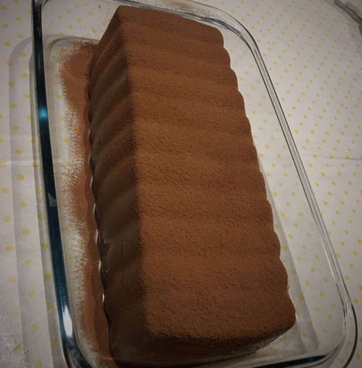 Mousse de corte de chocolate