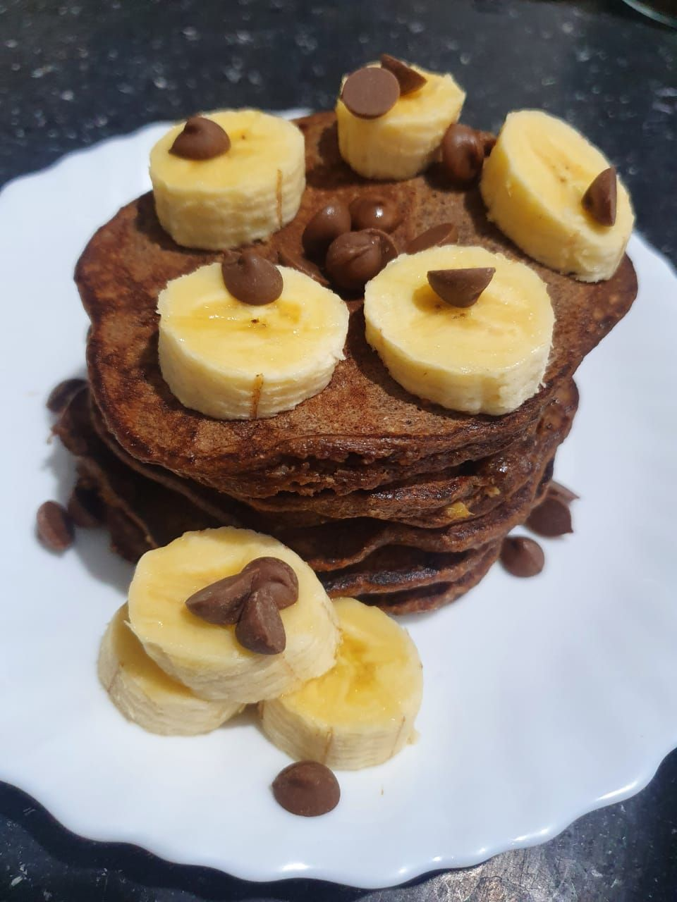 Panqueca integral de banana