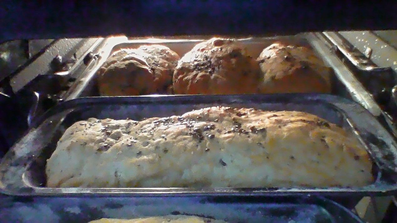 Pão de inhame com grãos