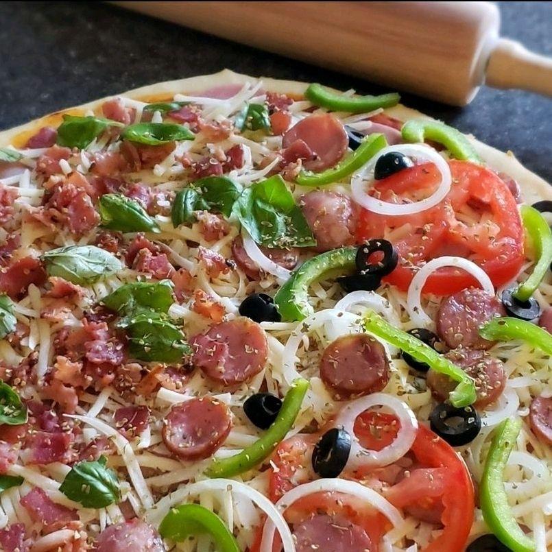 Pizza caseira da Jô