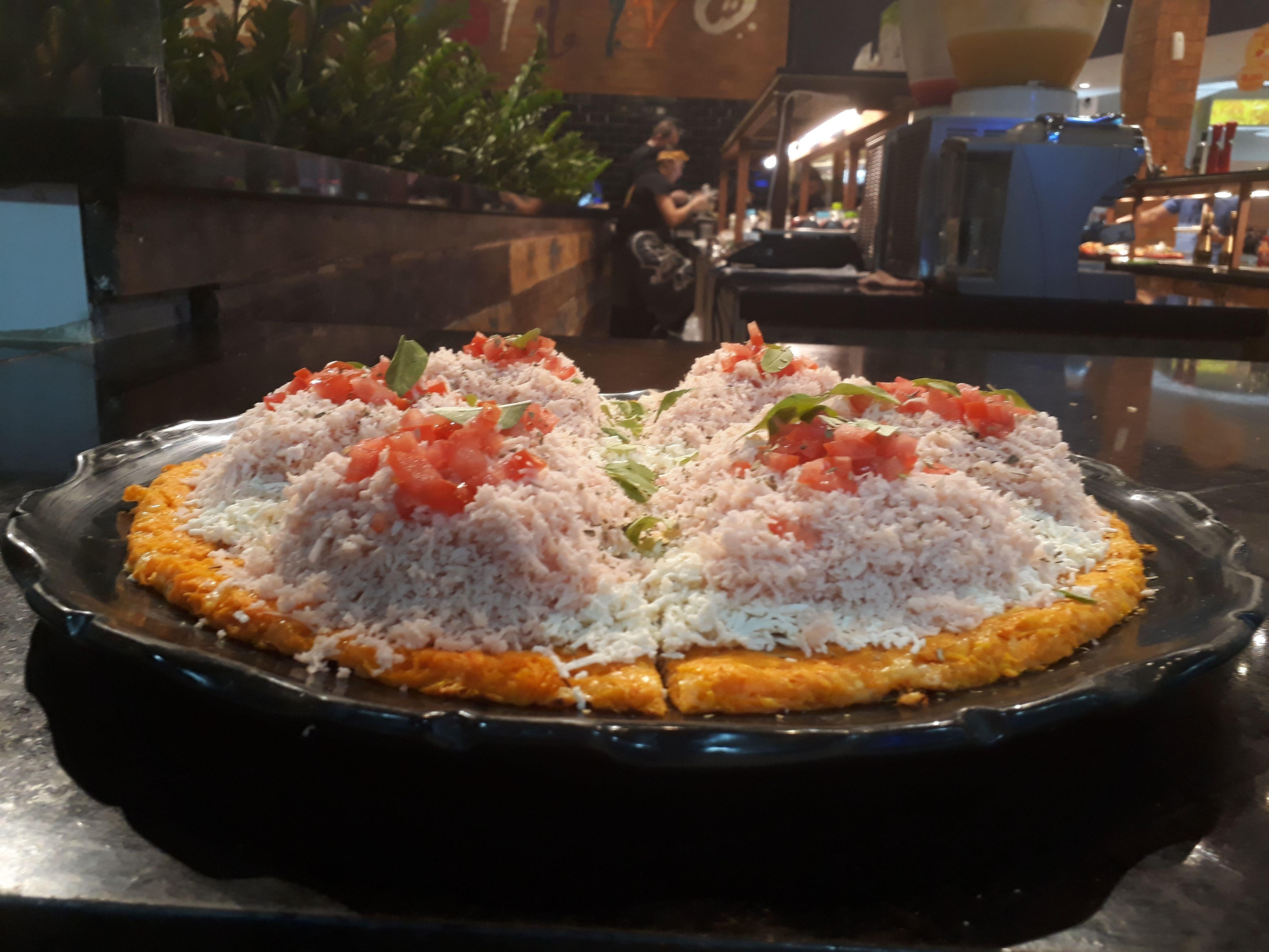 Pizza de cenoura low carb