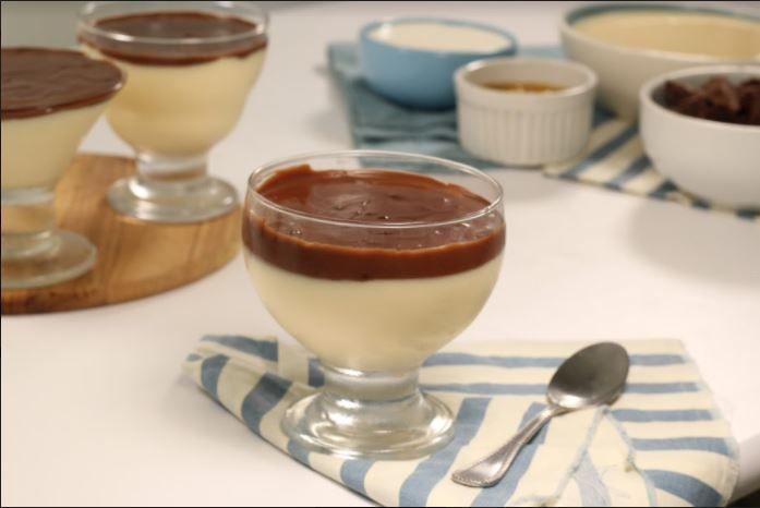 Sobremesa mousse com chocolate