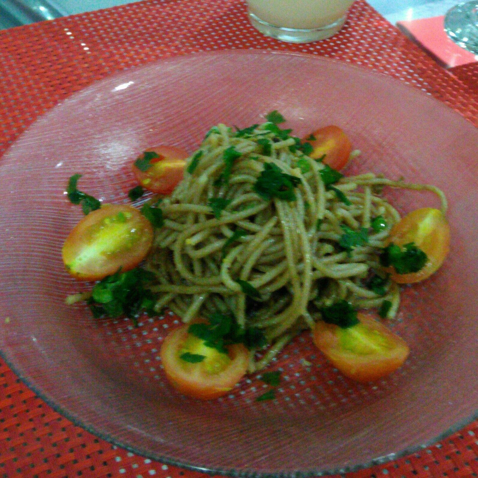 Spaghetti ao vinho do chef Mac