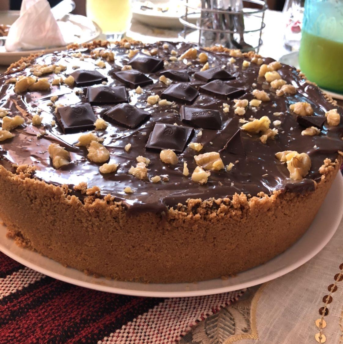 Torta de chocolate com damasco